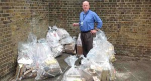 Trading Standards and Licensing Manager, John McCrohan, with the seized tobacco.