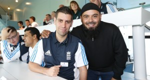 England Blind Cricket Squad captain Matt Dean (left) with Emdad Rahman