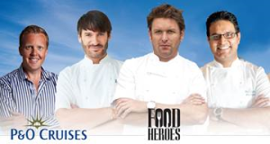 P&O Cruises Food Heroes will be at the Cruise Show.