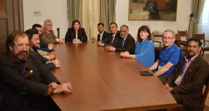 The delegation with Ms Konstantapoulo