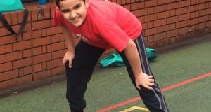 Mehmetcan from Rushmore Primary School running the Vitality Run Hackney Schools Challenge 4