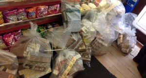 Some of the seized illicit cigarettes and tobacco