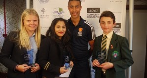 Team GB Hockey star & Coach Darren Cheesman with winners