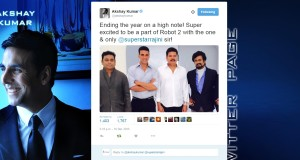 Akshay tweets the news about Robot 2