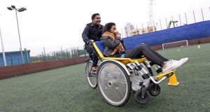 Tower Project staff help some of their Centre users to take part in sports such as cycling (above).