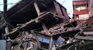 Deepak Shijagurumayum posted on his instagram this picture of damage to a six-storey building in Imphal.