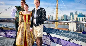 Actors from Grassroots Shakespeare London celebrate 400 years of Shakespeare with a special performance Up at The O2. The company will return at Easter to entertain Up at The O2 climbers.