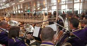 Becontree Brass Band entertains the crowd at the Museum of Childhood