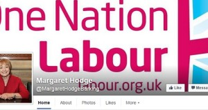 The masthead on Hodge's Facebook page is strangely nationalist.