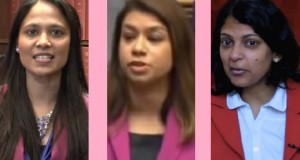 Rushanara Ali MP, Tulip Siddiq and Rupa Huq