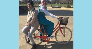 Project Manager Zakia Begum and Cycle Instructor Shahanara Begum