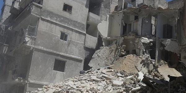 Aleppo: being turned into rubble...