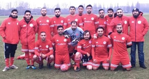 New Stepney FC Chair Emdad Rahman (far right, back row) and the team