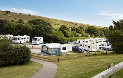 Brighton Caravan Club Site, where a host of facilities await the guest.