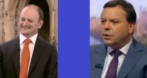 Duncan Carswell (left) and Arron Banks: ready to square up in Clacton