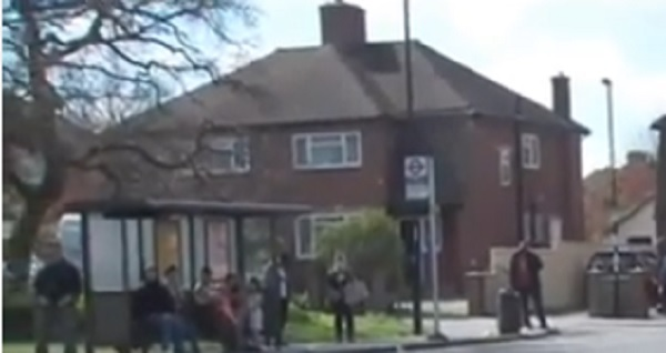The Croydon bus stop where the asylum seeker was approached by the attackers.