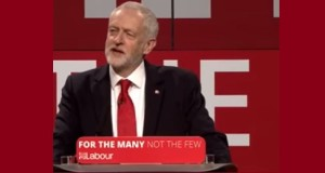 "Jeremy Corbyn launches the Labour manifesto - ""for the many, not the few""."