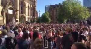 Vigil in Albert Square, Manchester