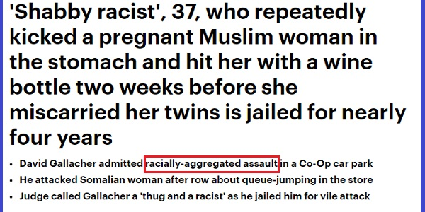 The headlines in the online Daily Mail