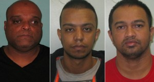 The robbers: Mohammed Auckburally, Abdool Auckburally and Rajdeo Aubeelock