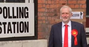 Jeremy Corbyn casts his vote.