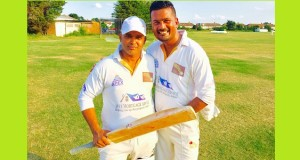 Tanin (left) with veteran Sajal Rahman struck up a winning 65 run partnership.