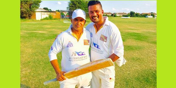 Tanin (left) with veteran Sajal Rahman struck up a winning 65 run partnership.
