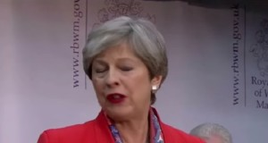 Theresa May, accepting that her gamble had not paid off.