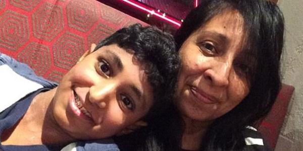 The late Karan Cheema and his mother Rina