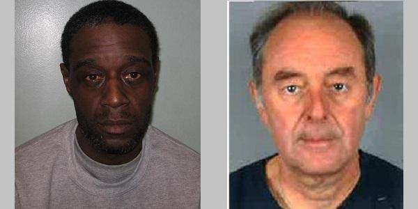 Killer Richard Laurent (left) and his victim Derek Bailey (right)