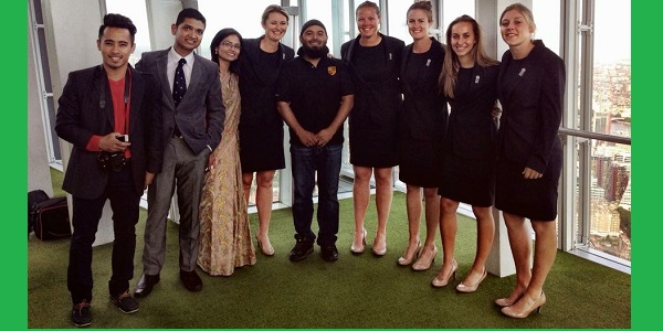 The ELN and Scintilla CC team with club talisman Tahmina Ahmed (Saree) have previously met World Cup final match winner Anya Shrubsole and members of the women's cricket team.