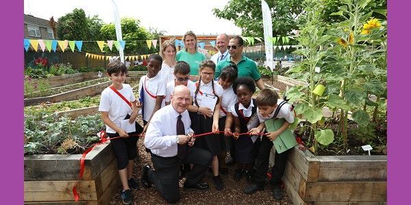 Manorfield School edible garden launch with mayor John Biggs,  7th July 2017