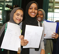GCSE results day at Central Foundation School - 24Aug17