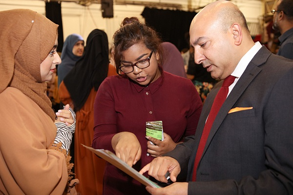 Cllr Islam inspects GCSE results at Central Foundation School.