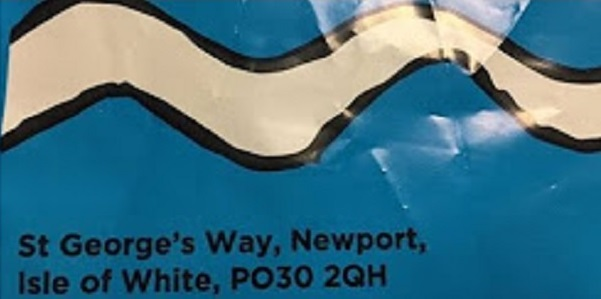 A detail from the bag for life - showing the mis-spelled address.