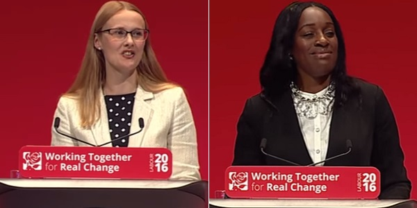 Labour Shadow Ministers Cat Smith (left) and Kate Osamor