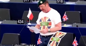 UKIP's Mike Hookem addresses the European Parliament.