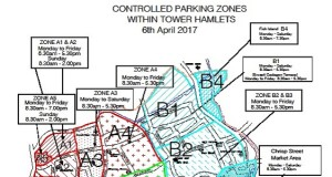 Parking - the affected zones