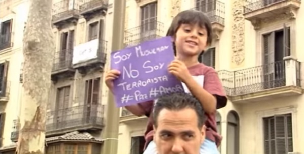 Muslims protest against terror attacks and stereotyping, Barcelona