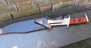 Potentially lethal combat knife seized in Hackney weapons sweep.