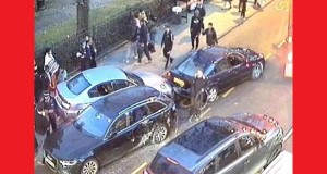 Traffic chaos after the incident in Clapton.