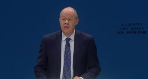 Disgraced Damian Green addressing Tory Conference