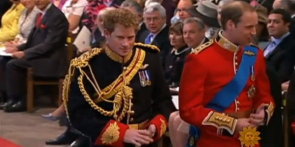Prince Harry (left) spent years in the army  - not the actions of someone who is trying to avoid politics.