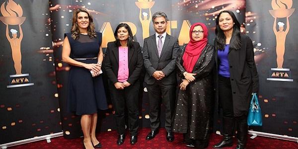 Samantha Simmonds; Rupa Huq MP; ARTA Founder, Salik Mohammed Munim; Baroness Uddin; and Rushanara Ali MP at the ARTA nominations launch