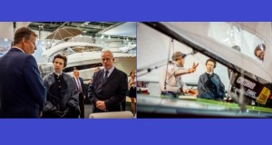 HRH Princess Anne visits the London Boat Show 2018, together with her husband, Vice Admiral Sir Tim Laurence.