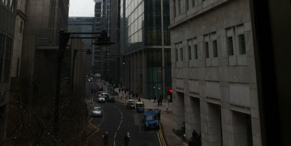 The dead body was found in the Canary Wharf estate (file picture).