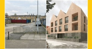 Before and after at Mandeville Street, Clapton