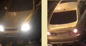 Stills from a CCTV show the Lexus car which police want to trace.