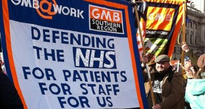 A clear message from the trade unions on a recent demonstration to defend the NHS