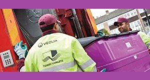 Convtroversial refuse company Veolia collect Tower Hamlets recycling.
